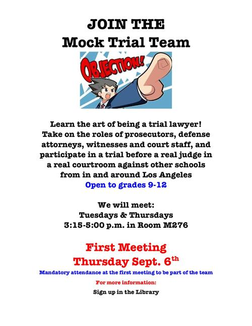 Mock Trial Poster