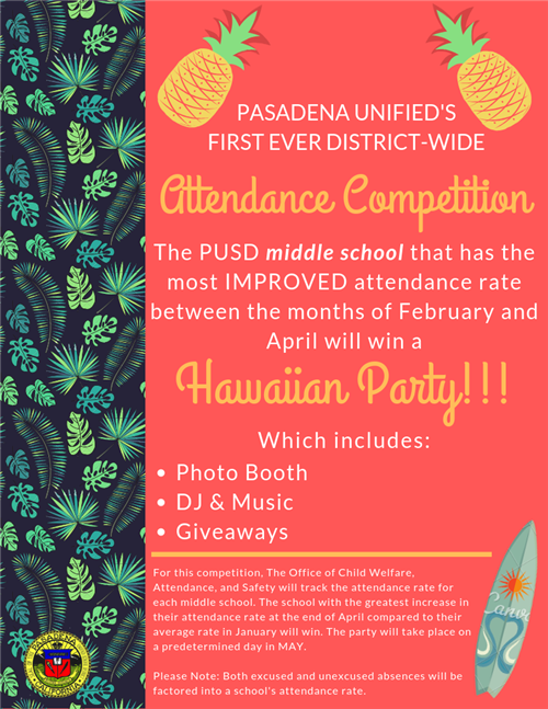 Middle School Attendance Competition