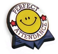Monthly Perfect Attendance prizes