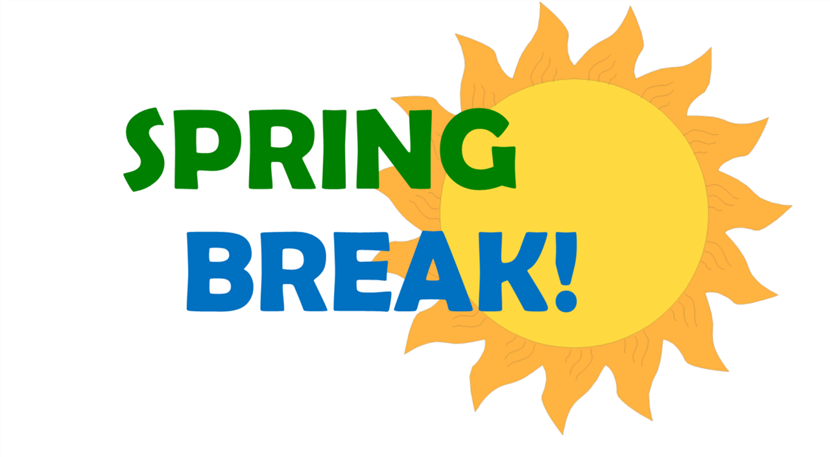 Spring Break: No School - March 18 - March 22