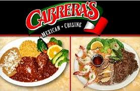 Cabrera's PTA Dine Out Night! January 24, 2018!