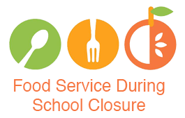 picture logo with words food service during school closure