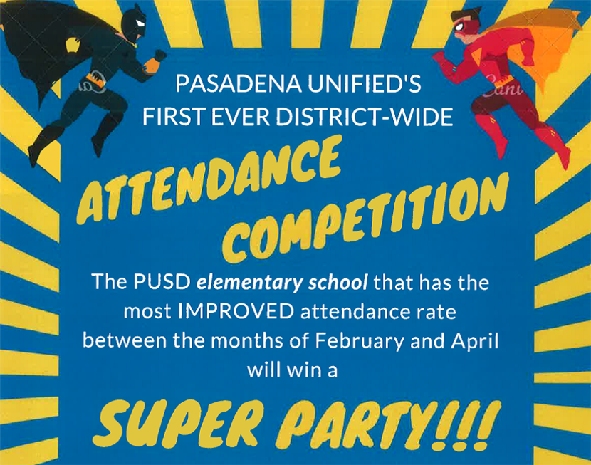 PUSD's District-Wide Attendance Competition!