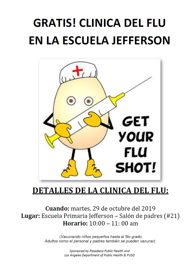 free flu clinic flyer in spanish