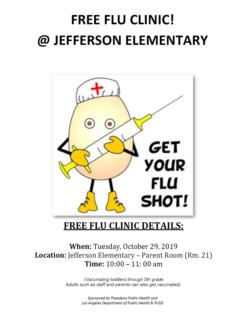 Free Flu Clinic @ Jefferson!