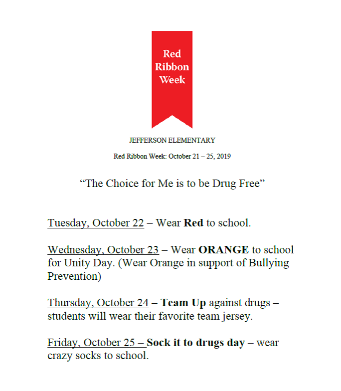 Red Ribbon Week @ Jefferson