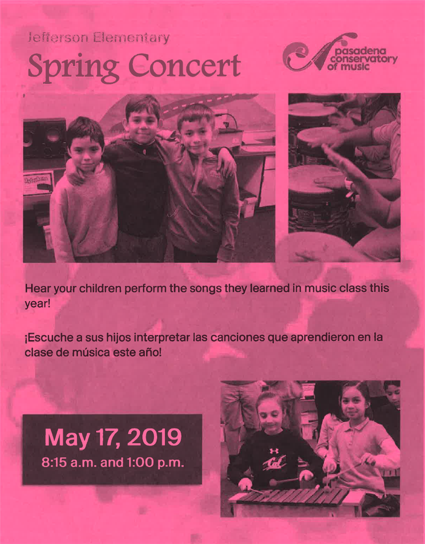 Jefferson Spring Concert - May 17th!