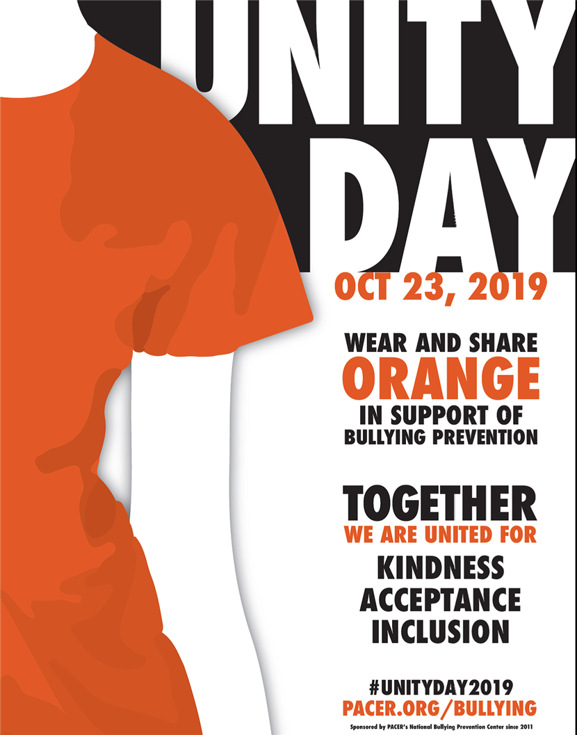Unity Day! Wear Orange in Support of Bullying Prevention