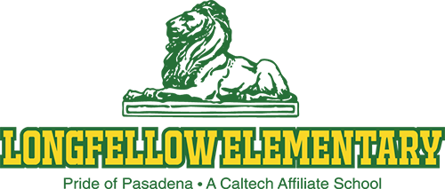 Longfellow Elementary logo of a lion