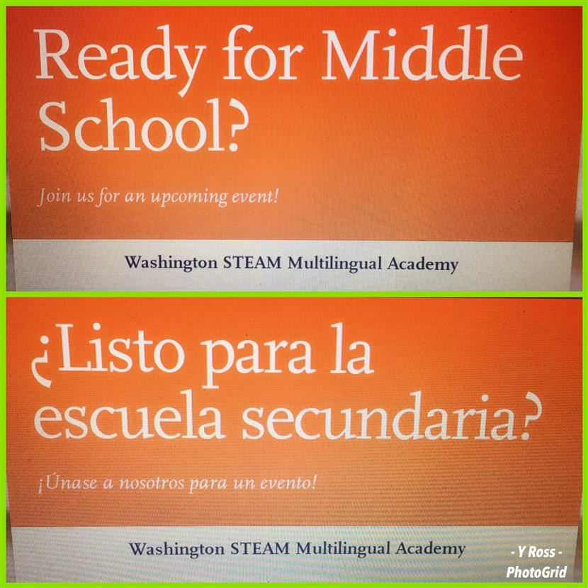 Ready for Middle School/Listo para la escuela secundaria