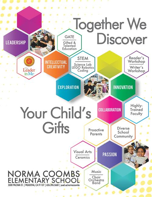 Together We Discover Every Child's Gifts flyer