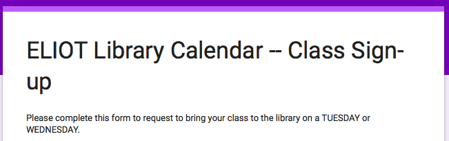 Teachers: Schedule a Library Visit