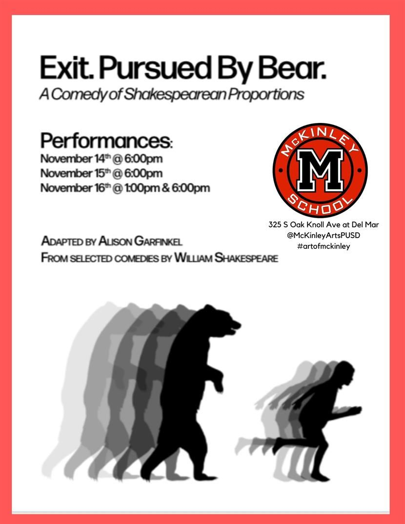 """Exit. Pursued by the Bear."" Winter Play"