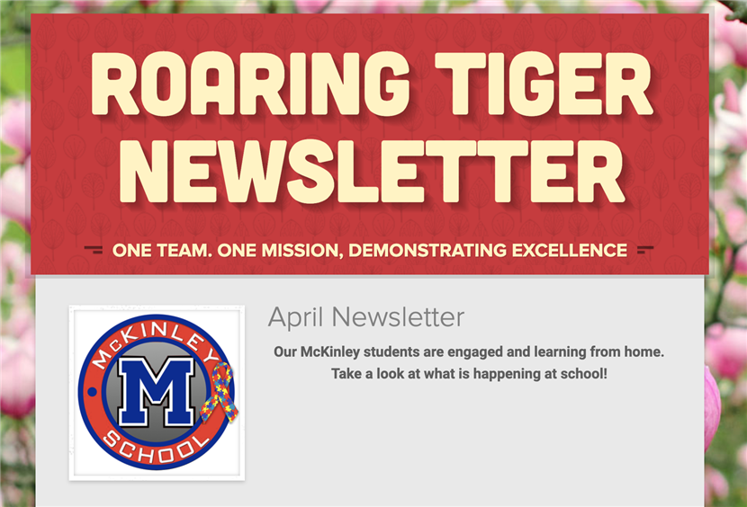 Roaring Tiger April Newsletter