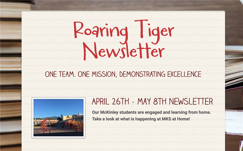 Roaring Tiger Newsletter - April 26-May 8