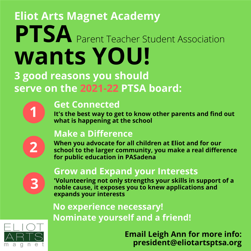Be on PTSA Board
