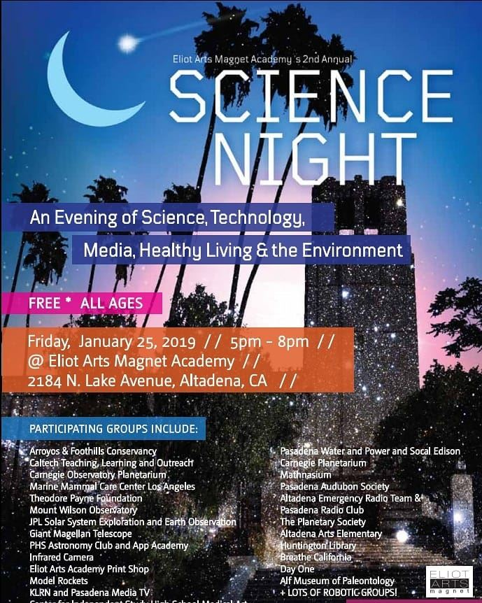 Eliot Arts 2nd. Annual Science Night!