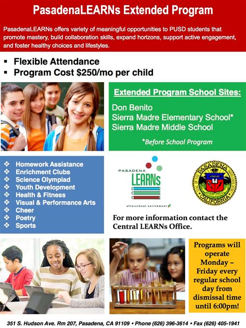 Pasadena LEARNs for SMMS Enrollment is Now Available for 2017-2018