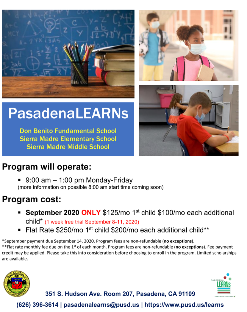 Pasadena Learns Flyer