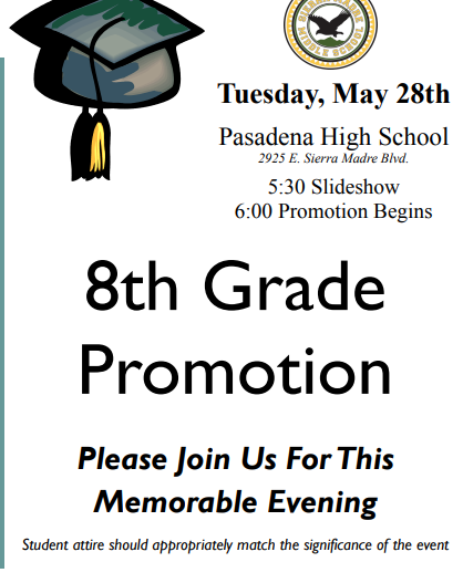 8th grade promotion meeting