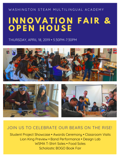 Innovation Fair & Open House at WSMA!