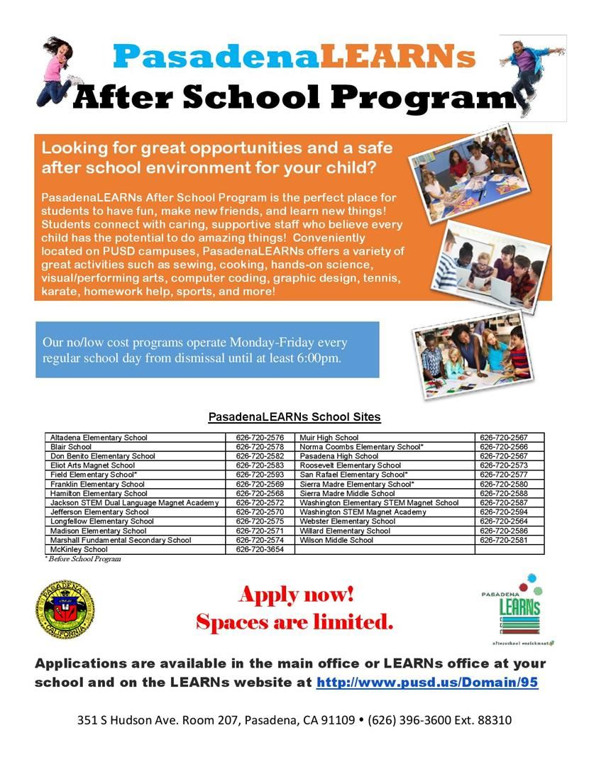 Pasaden LEARNs Afterschool Program