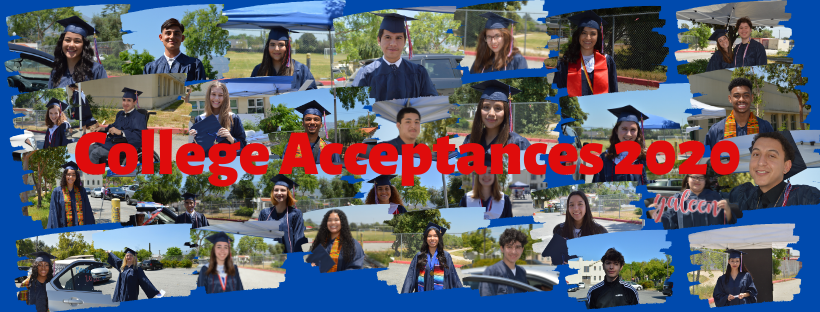 College Acceptances - Class of 2020