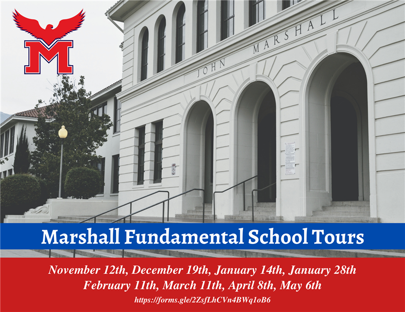 Marshall Fundamental School Tour Dates