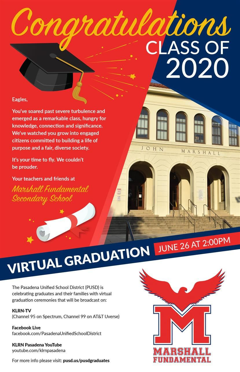 Marshall Fundamental Virtual Graduation