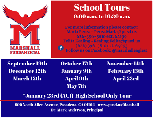 Marshall Tour Schedule 2019 - 2020