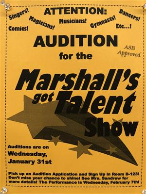 Auditions for Marshall's Got Talent!