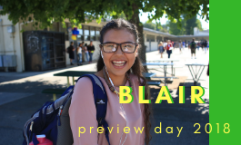 Check Out Blair! Preview Day is Sat. Nov. 3