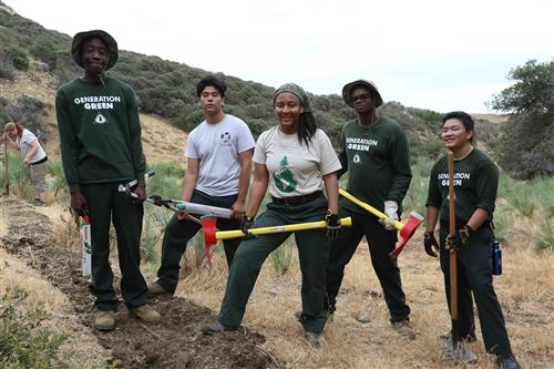 Generation Green students at Tejon Ranch Conservancy