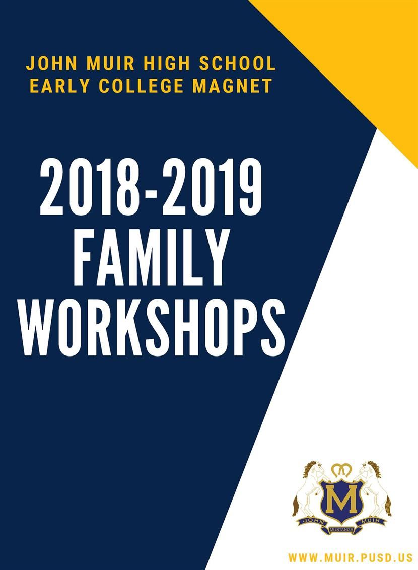 2018-2019 Family Engagement Workshops