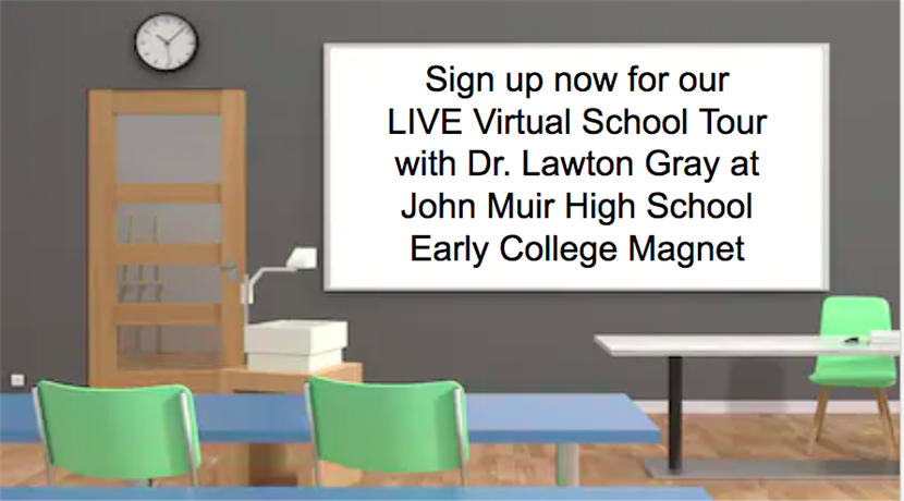 Sign up now for our LIVE Virtual School Tour with Dr. Lawton Gray