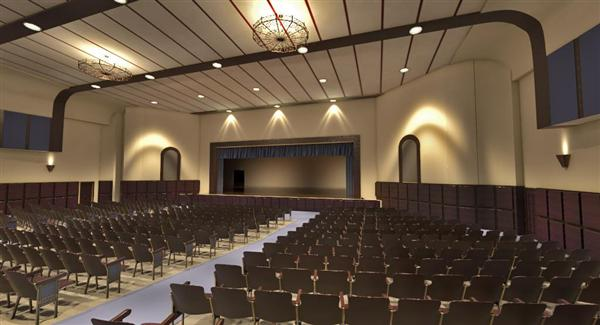Photo of new auditorium