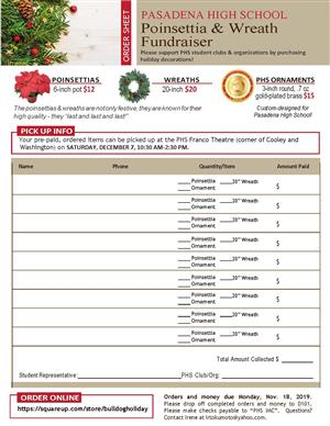 Holiday Order Form