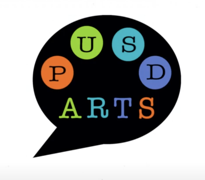 Artists palette with PUSD Arts