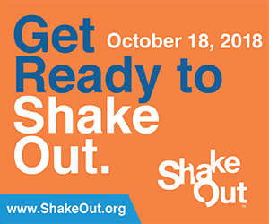 Great ShakeOut is Oct. 18