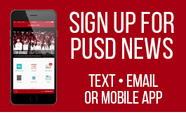 Sign up for PUSD news. Text, email or mobile app.