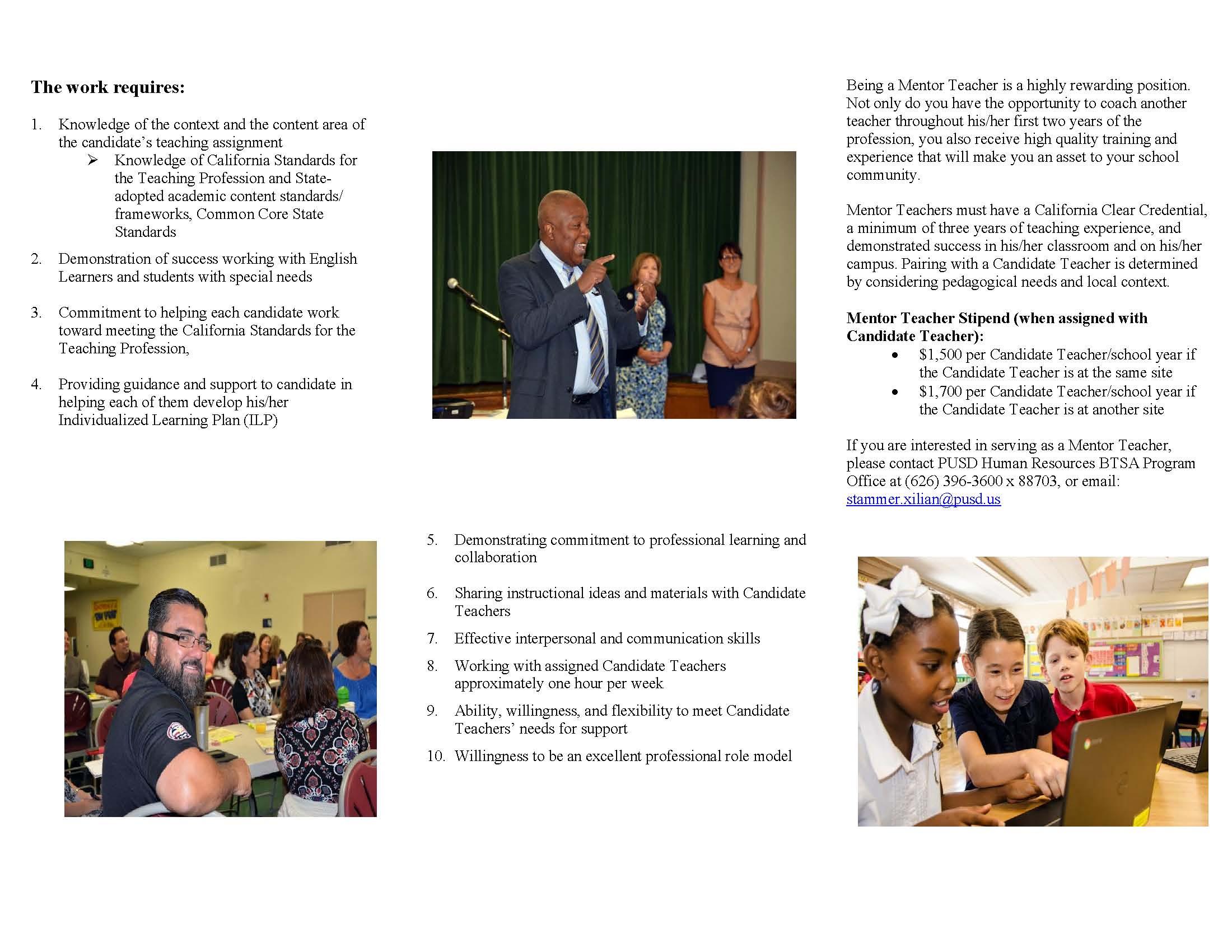Human Resources / Teacher Induction Program