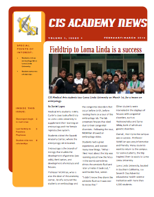 CIS Newsletter April 2016