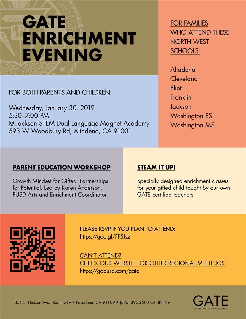 North West GATE Enrichment Evening