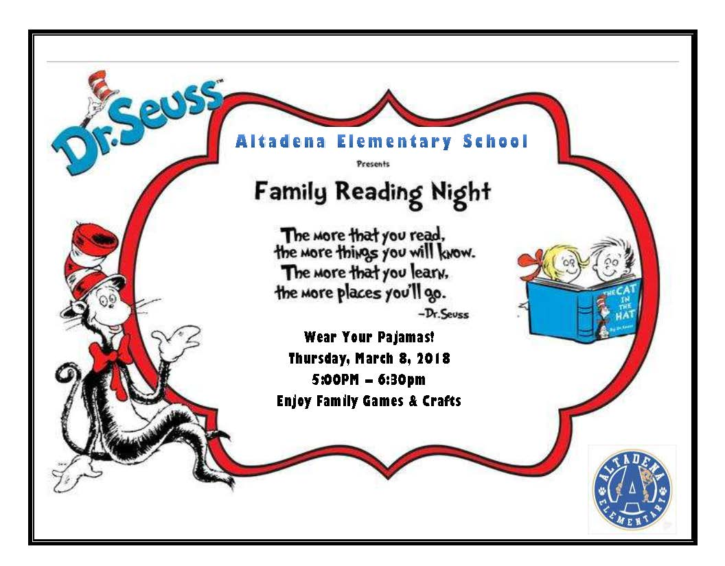 Join Us for Family Reading Night