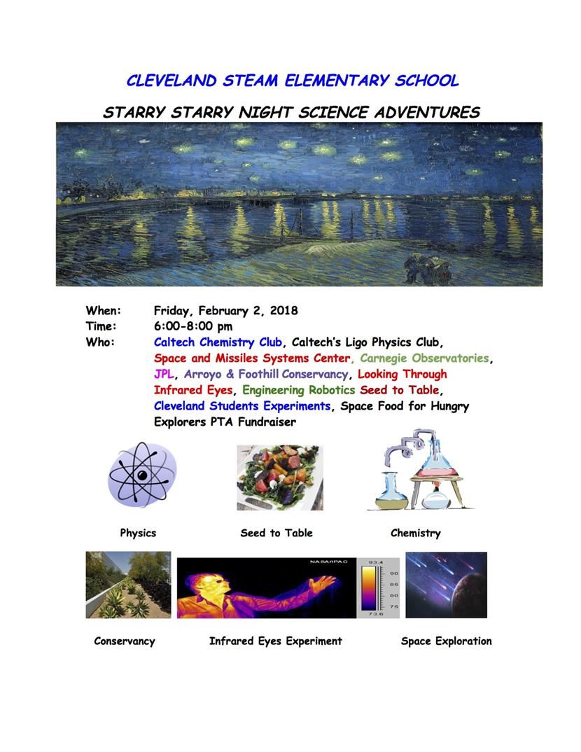 Starry Starry Night Science Adventures @Cleveland STEAM Elementary School