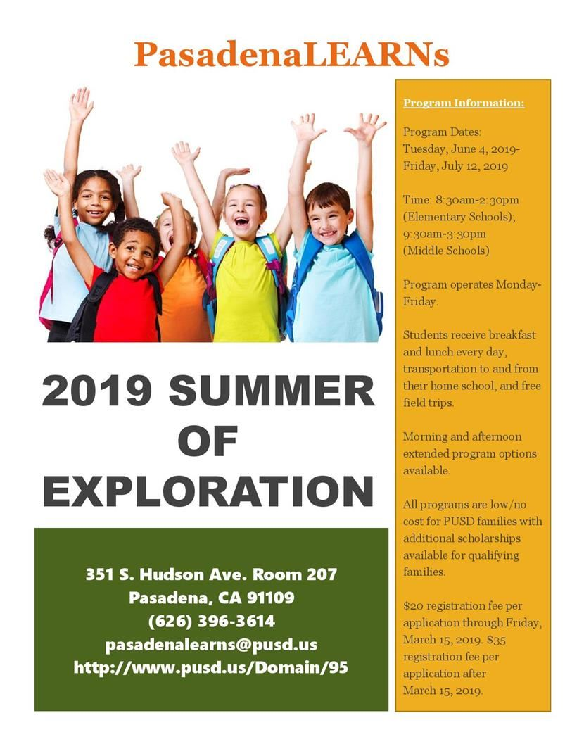 2019 Summer Of Exploration