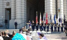 Blair Color Guard at Veterans Day event