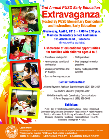 Early Education Extravaganza Flyer in English